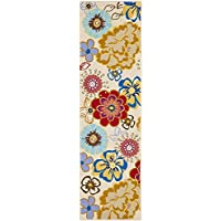 Safavieh Four Seasons Collection FRS467B Hand-Hooked Ivory and Multi Indoor/ Outdoor Runner (23 x 8)