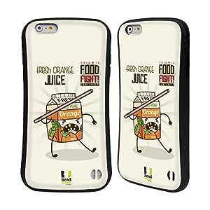 Head Case Designs Fresh Orange Juice This is Food Fight Hybrid Gel Back Case for Apple iPhone 6 Plus 5.5