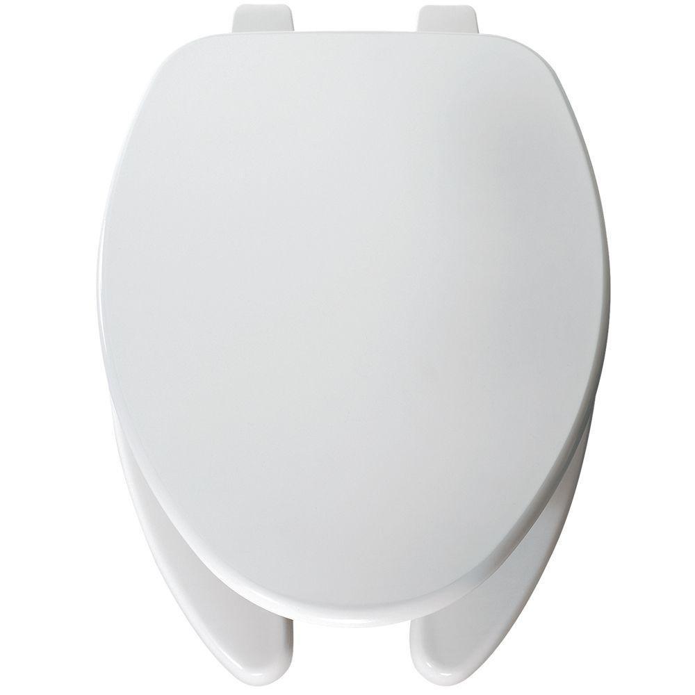 Bemis 560 000 Round Open Front Toilet Seat, White