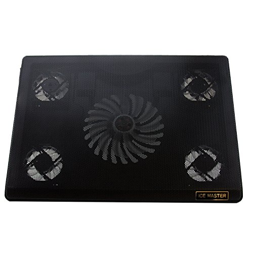 LB1 High Performance New Super Cooling Fan 5-Fan Cooling System Cooling Pad with Hyper Surface Design
