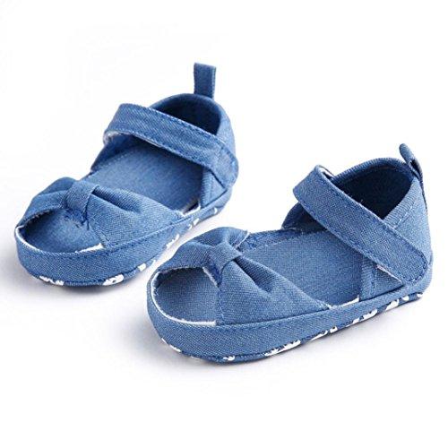 Tefamore Sandalias Zapatos Bebé De Cuna Suave Niños Niñas Recién Nacido(Una variedad de estilos y colores) H