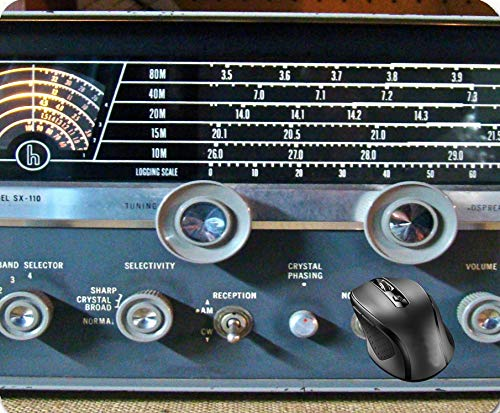 a4f8c80ea0ef SHAQ Vintage Short Wave Radio Mouse Pad 8.6 X 7.1 in