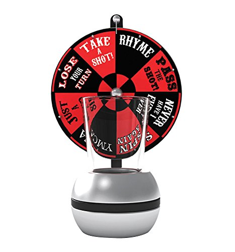 Barbuzzo Wheel of Shots - The Perfect Party Drinking Game - Pour a Shot, Spin the Wheel, & Take Your Chances - Great Gift for Home Entertaining, Kickbacks, Parties, Tailgates, & Celebrations - Alcohol Drinking Accessories