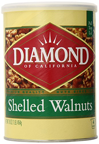 Diamond of California, Shelled Can Walnuts, 1-Pound (Pack of 12)