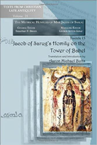 Book Jacob of Sarug's Homily on the Tower of Babel (Texts from Christian Late Antiquity)