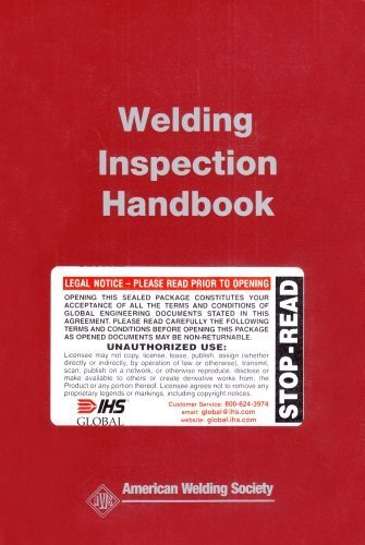Welding Inspection Handbook by AWS Committee on Methods of Inspection(November 24, 2000) Paperback
