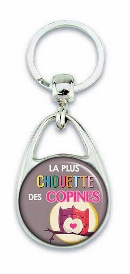 Llavero, diseño de texto en francés