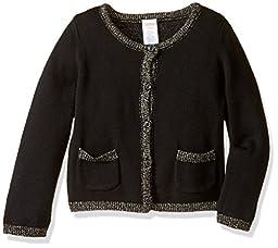 Gymboree Big Girls\' Cardigan with Pockets, Black, S
