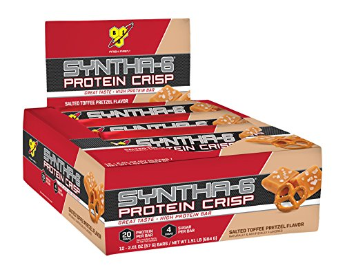 Salted Toffee (BSN - Syntha-6 Protein Crisp Bar Salted Toffee Pretzel - 12 Bars)