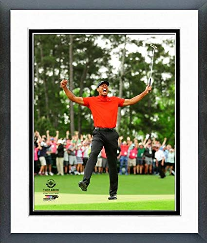 Tiger Woods Framed Pictures - Tiger Woods 2019 Masters Tournament Photo (Size: 12.5