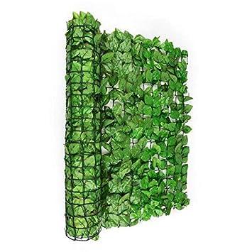 Blumfeldt Fency Bright Leaf - Clôture Pare-Vue, Clôture Brise-Vue,  Paravent, Montage Simple et Rapide, Grillage métallique enrobé de  Plastique, ...