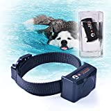 Slicemall Waterproof And Rechargeable Remote Electric Dog Training Collar No Bark Control Collars 500 Yards Beep/Vibration/Shock Blue Backlight LCD For Small,Medium,Large Pets And Dogs