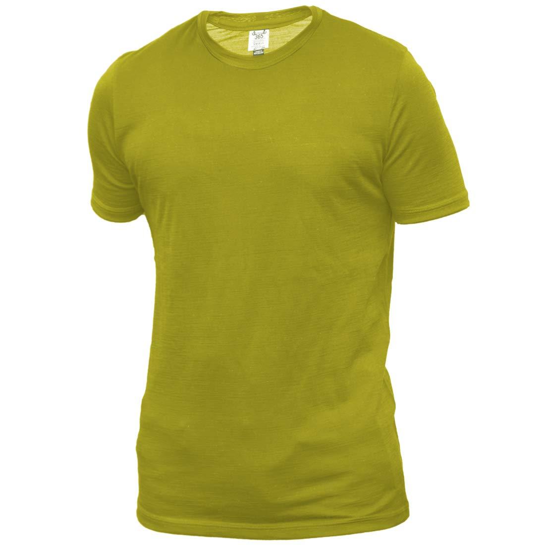 Merino 365 Men's Crew Short Sleeve X-Large, Green Moss by Merino 365