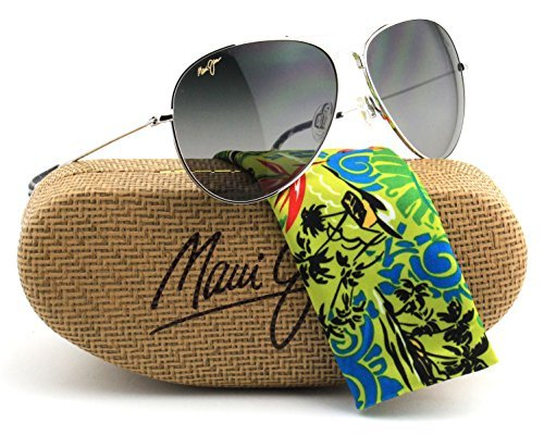 Maui Jim GS264-17 MAVERICKS Silver Frame / Polarized Grey gradient - Maui Silver Mavericks Jim