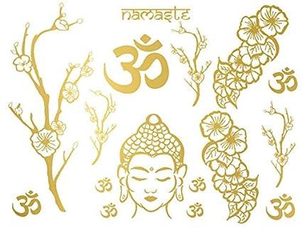 Namaste Oro Tattoo (16 tatuajes): Amazon.es: Belleza