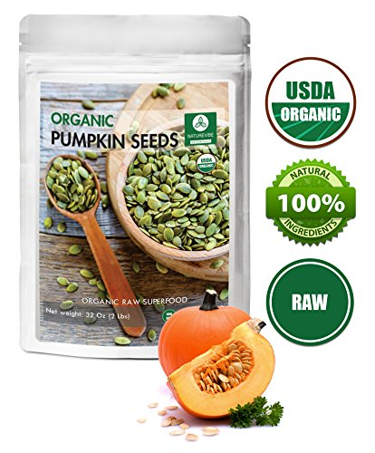 Organic Pumpkin Seeds (Organic Pumpkin Seeds (2lbs) by Naturevibe Botanicals, Gluten-Free & Non-GMO (32 ounces))