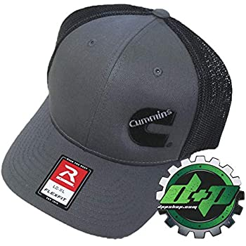 ec221233d7c Diesel Power Plus Dodge Cummins Trucker hat Ball Richardson Charcoal Gray  Black mesh Flex fit SM MD