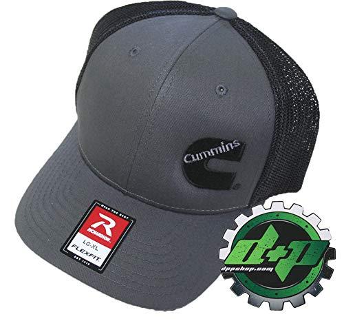 e43b31f182b72 Diesel Power Plus Dodge Cummins Trucker hat Ball Richardson Charcoal Gray Black  mesh Flex fit SM