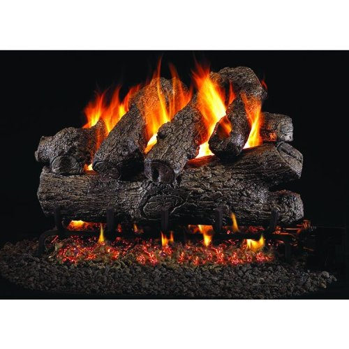 (Peterson Real Fyre 18-inch Royal English Oak Gas Log Set With Vented Propane G45 Burner - Manual Safety Pilot)