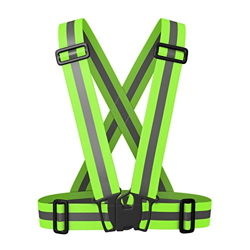 NKTM Reflective Safety Vest Belt,As Reflective Gear With 360°Reflectivity and Visibility for Outdoor Sport&Work&Traffic Police Execute Mission or Emergency Road Assistance/Adjustable&Multi-purpose