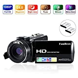 Video Camera Camcorder, FamBrow Full HD 1080p 24MP 3.0 Inch TFT LCD 270