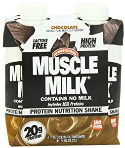 CytoSport Muscle Milk Ready-to-Drink Shake, Chocolate, 11 Ounce Boxes in 4-Count Packages (Pack of 6)