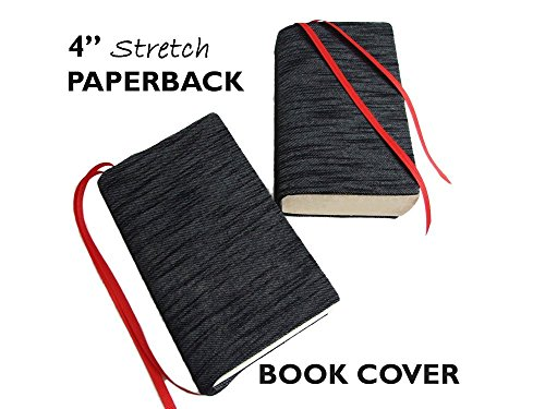 White Stretchable Book Cover : Quot mini binder cover in black slub denim knit stretch