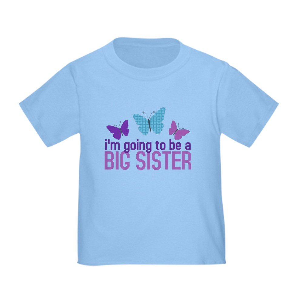 CafePress - Butterfly Big Sister To Be - Cute Toddler T-Shirt, 100% Cotton