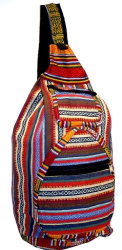 Single Shoulder Hippie Sling Backpack, Outdoor Stuffs