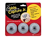 "Cable Capture Jr 3 Pack Cord Control (Grey Black) (1""H x 2""Diameter)"