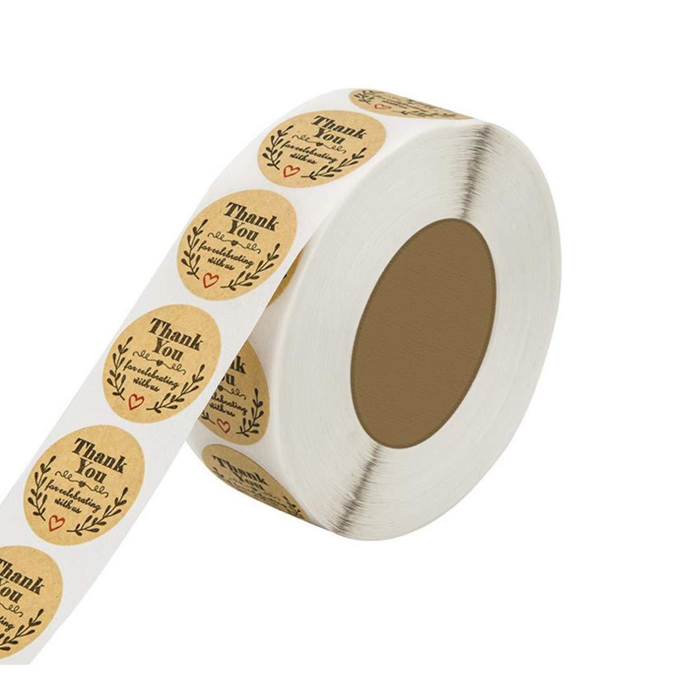 Di/ámetro 2.5cm gotyou 500 Pieza Etiqueta de Papel Kraft,Etiqueta Adhesiva Hecha a Mano,Pegatina Redonda,Etiqueta para Hornear,Decoraci/ón para Hornear Hecho a Mano,Pegatina de Bricolaje