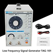 Signal Generator TBVECHI 110V Signal Source 10Hz-1MHz Audio/Low Frequency Signal Generator TAG-101