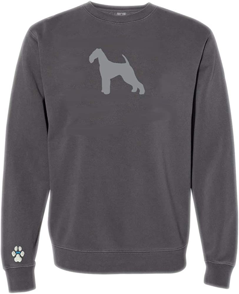 Heavyweight Pigment-Dyed Sweatshirt with/Airedale Terrier Silhouette