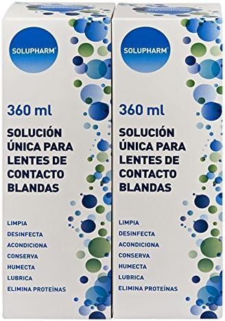 Solupharm Solución Única para Lentes de Contacto Blandas - Paquete de 2 x 360 ml - Total: 720 ml