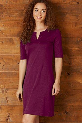 Fair Indigo Fair Trade Organic Split Neck Dress