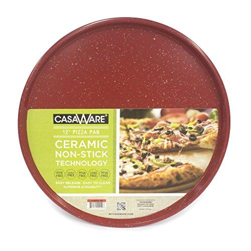 casaWare Pizza/baking Pan 12-inch (Red Granite) ()