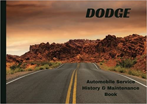 DODGE Automobile History Maintenance Book Vehicle Maintenance Log