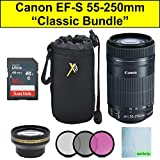 Crystal Canon EF-S 55-250mm F4-5.6 is STM Lens Classic Bundle