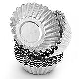 xl baking cups - TXIN 20 Pack Egg Tart Aluminum Cupcake Cake Cookie Mold Pudding Mould Tin Baking Tool(XL)