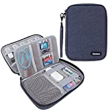 Damero USB Flash Drive Bag for SD Cards, Power Banks, Memory Cards/Waterproof External Hard Drive Case (Large, Dark Blue)