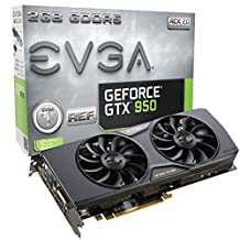 EVGA GeForce GTX 950 2GB ACX 2.0 Gaming, Silent Cooling Graphic Card 02G-P4-1955-KR