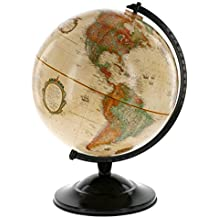 "Globe With Antique Shading - Raised Relief Topographical Political Globe - 2018 Country Lines (12"" Diameter)"