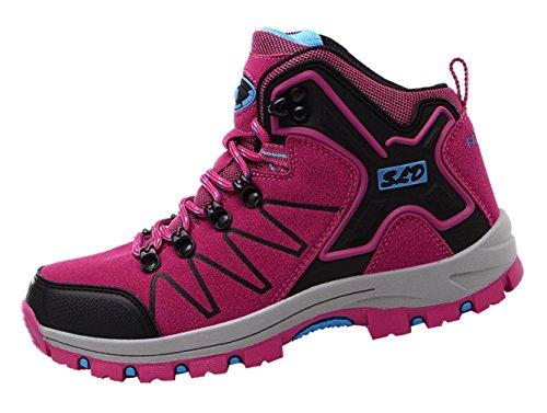 Eozy Damen Trekking Wanderschuhe Wanderstiefel Leicht Sportschuhe Outdoor Rosa
