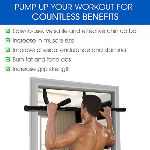 Heavy Duty Multi Purpose SXP Doorway Pull Up Chin Up Bar for Exercise Fitness Strength Training Upper Body Workout (New Model)