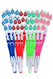 148 Individually Packaged Large Head Medium Bristle Disposable Toothbrushes - Multi Color Pack - Convenient & Affordable