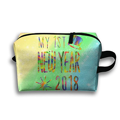 1st New Years Eve Toiletry Bag Unisex Travel Toiletries Bag Sturdy Hanging Organizer