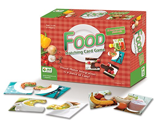 MKgames Matching Card Game, Two Pieces Puzzle for Kids - Food. Educational Game, Develops Cognitive, Learning & Fine Motor Skills. Helps Stimulate Conversation About Nutrition ()