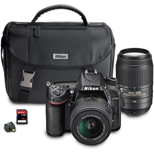 Nikon D7100 DX-Format Digital SLR Camera Bundle with 18-55mm and 55-300mm VR NIKKOR Zoom Lenses