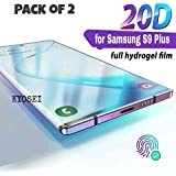 Kyosei's Hammer Proof Unbreakable Nano Film Flexible Screen Protector Screen Guard{Better Than Tempered Glass} Designed for Samsung Galaxy S9 Plus