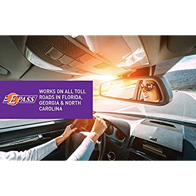 E-PASS Portable; Electronic Toll Transponder, Automatic Payment for Nonstop Travel On All Toll Roads in FL, GA, NC; Windshield Mount on Cars + Motorcycles